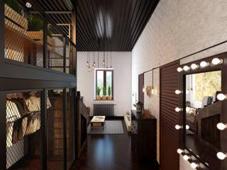 industrial style corridor, hallway & stairs. by Арт Реал Дизайн Industrial