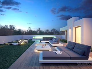 Minimalist balcony, veranda & terrace by ARQuitrazos Minimalist