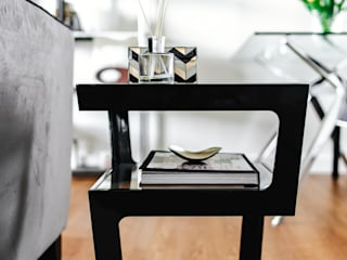 Boutique Hotel Apartment Katie Malik Interiors Living roomSide tables & trays