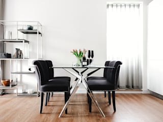 Boutique Hotel Apartment Katie Malik Interiors Modern dining room Black