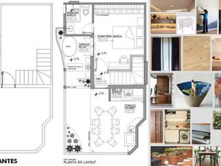 Antes e depois - reforma de duplex na Vila Ipojuca Varandas, alpendres e terraços ecléticos por PRISCILLA BORGES ARQUITETURA E INTERIORES Eclético