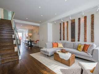 Shaw Rowhouse Modern Living Room by FORMA Design Inc. Modern