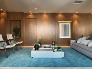Chanson Klabin: Salas de estar  por MOANA Arquitetura,Moderno