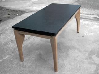 Lévitaa, Table basse Chêne & Granit par Couleur Bois Moderne
