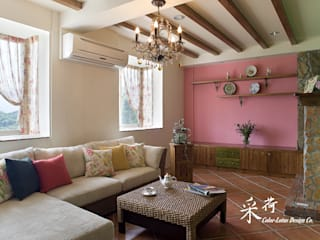 Rustic style living room by 采荷設計(Color-Lotus Design) Rustic