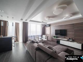 Modern Living Room by Дизайн студия 'Акварель' Modern