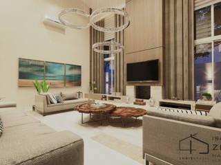 Living Residência CB: Salas de estar  por Chris Brasil Arquitetura e Interiores