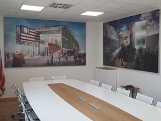 Meeting Room per American Chamber of Italy - Milano:  in stile  di MB CONTRACT SRL, Moderno