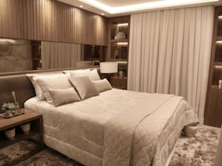 Suelen Kuss Arquitetura e Interiores Modern Bedroom Wood Wood effect