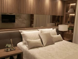 Suelen Kuss Arquitetura e Interiores Modern Bedroom MDF Wood effect