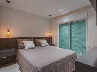 Apartamento Balneário de Caioba: Quartos  por Ediane Tramujas Arquitetura,Moderno