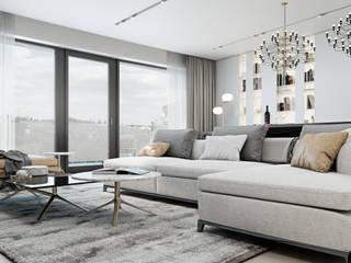 Salas / recibidores de estilo minimalista por Diff.Studio
