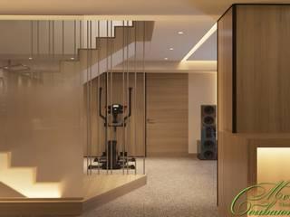 Salle multimédia minimaliste par Компания архитекторов Латышевых 'Мечты сбываются' Minimaliste