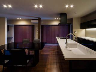 「高級ホテル」をイメージしたリフォーム オリジナルデザインの リビング の 傳寶慶子建築研究所 オリジナル