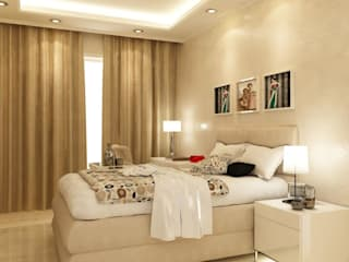 Guest Bedroom design:   by aidecore