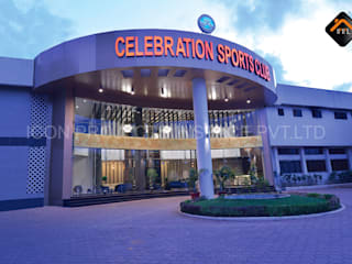 The Celebration Sports Club Modern bars & clubs by ICON PROJECTS INSPACE PVT.LTD Modern