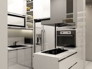 Kitchen set aidecore KitchenCabinets & shelves Kayu Lapis White