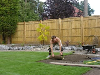 Phil the Garden designer and Landscaper getting stuck in!:   by Enchanting Gardens