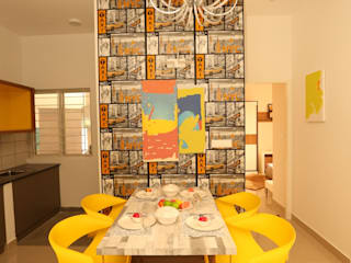 2BHK Flat Eclectic style dining room by Space Trend Eclectic