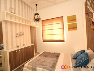 2BHK Flat Eclectic style bedroom by Space Trend Eclectic