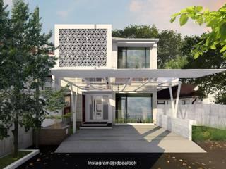 Idealook Casas unifamiliares Concreto Blanco