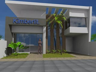Projeto comercial: Edifícios comerciais  por Nicéia Benvinda Arquitetura,Moderno