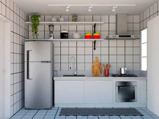 homify Muebles de cocinas Azulejos Blanco