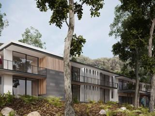 Casa Habitación Reserva de los Encinos: Casas unifamiliares de estilo  por de Silva Arquitectos