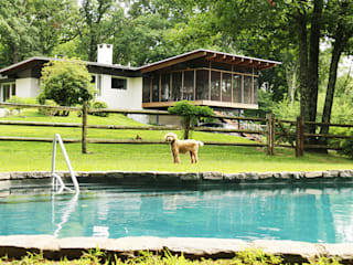 Paradise Lane, Litchfield County, CT BILLINKOFF ARCHITECTURE PLLC Modern Terrace