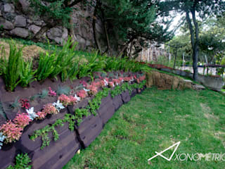 Jardin MirFar Jardines modernos de Axonometrico Moderno