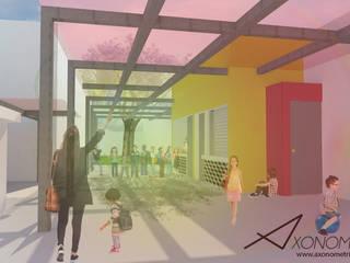 Render 1 - Terraza Primaria: Terrazas de estilo  por Axonometrico