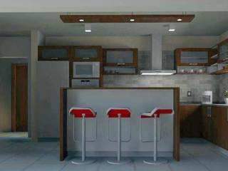 Cocinas de estilo moderno de Estudio Punto y Linea Moderno