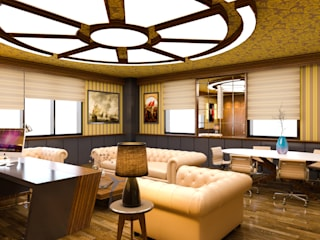 Hasan Gültürk 3d Görselleştirme ve Tasarım Hizmetleri – Makam Odası Tasarım Çalışması:  tarz Ofis Alanları