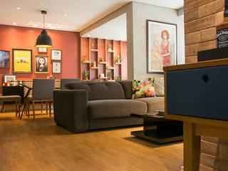 Apartamento RV Salas de estar modernas por NAU ARQUITETURA Moderno