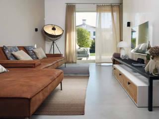 Suelos, paredes y escaleras MICROTOPPING® - Villas privadas:  de estilo  de Fermox Solutions