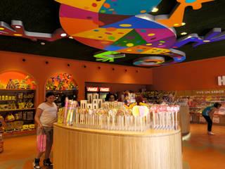 Tienda Taxco. HARIBO en PORTAVENTURA Espacios comerciales de estilo ecléctico de HD Arquitectura d'interiors Ecléctico