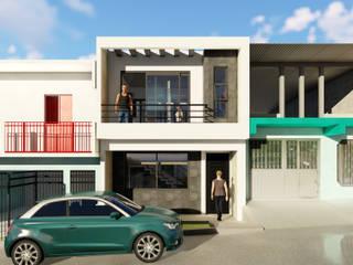 Fachada principal: Casas unifamiliares de estilo  por IAD Arqutiectura