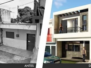 Antes y después: Casas unifamiliares de estilo  por IAD Arqutiectura