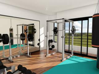 Minimalist style gym by IAD Arqutiectura Minimalist