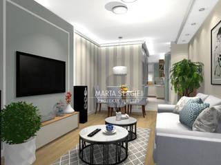 mieszkanie w bloku Klasyczny salon od marta sergiej - wnętrza Klasyczny