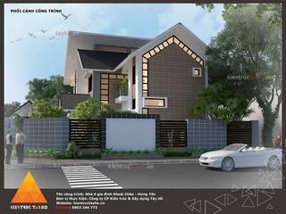 Phối cảnh Kiến trúc mặt bên trái:  Nhà by KIẾN TRÚC TÂY HỒ