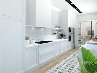 Cocina Cocinas de estilo mediterráneo de Alberto Navarro Arquitectura Interior Mediterráneo