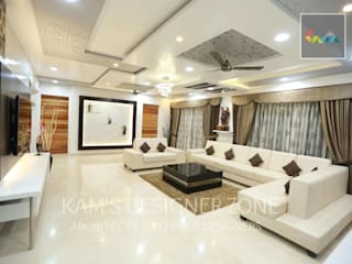 Flat Designed at Aundh of Mr. Satish Tayal Modern living room by KAM'S DESIGNER ZONE Modern