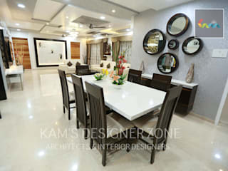 Home interior design for Satish Tayal Classic style dining room by KAM'S DESIGNER ZONE Classic