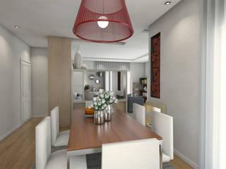 Casa BL18 The Spacealist - Arquitectura e Interiores Sala de jantarAcessórios e decoração Vermelho