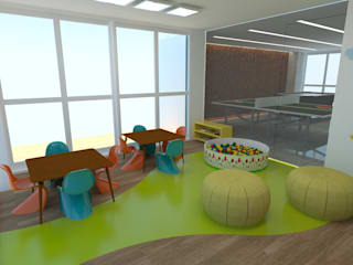 Modern nursery/kids room by arquitetaspevirtual Modern