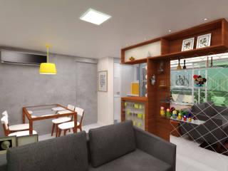 Apartamento G+V Banheiros modernos por Ladrilho Urbanismo e Arquitetura Moderno