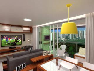 Apartamento G+V Cozinhas modernas por Ladrilho Urbanismo e Arquitetura Moderno