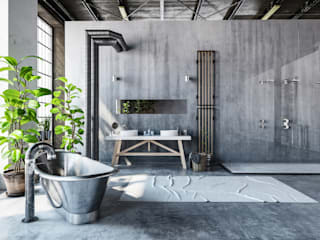 Bathroom - Industrial style: industrial Bathroom by homify demonstration profile