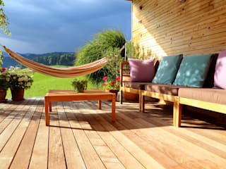 Wooden terrace:  Patios & Decks by homify demonstration profile